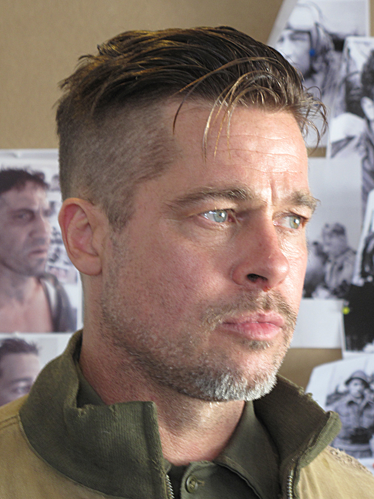 brad pitt fury hair - photo #15